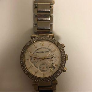 Gold MK watch small